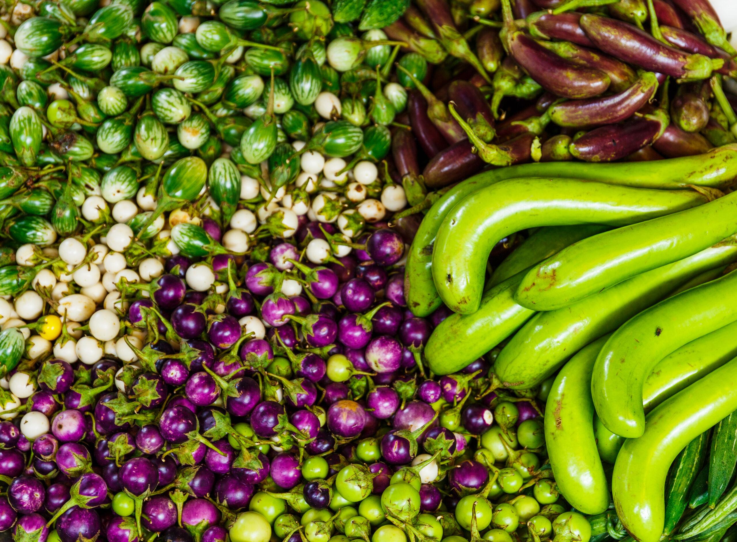 Vegetable in market stall